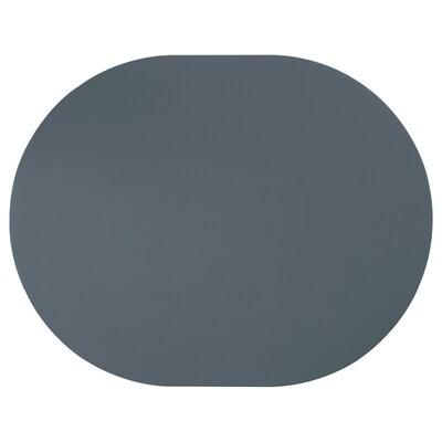 OMTÄNKSAM Tovaglietta antiscivolo, grigio azzurro, 45x35 cm