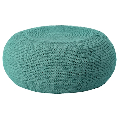 OTTERÖN / INNERSKÄR Pouf da interno/esterno, verde scuro, 58 cm