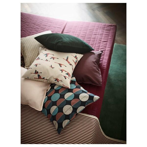 OTTIL fodera per cuscino blu/rosa 50 cm 50 cm