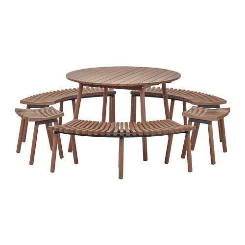 ÖVERALLT Tavolo con 3 panche e 2 sgabelli - IKEA
