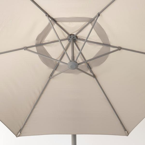 OXNÖ / LINDÖJA Ombrellone a sospensione, beige, 300 cm