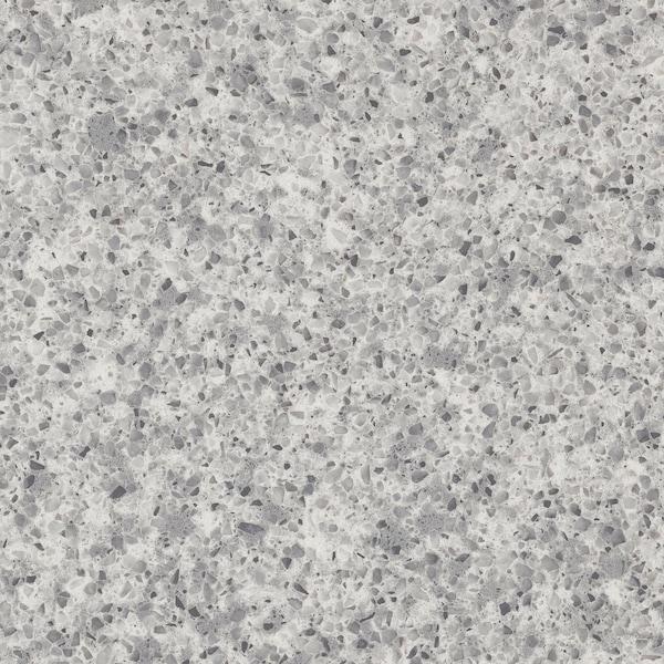 OXSTEN Piano di lavoro su misura, grigio chiaro effetto pietra/quarzo, 45.1-63.5x3.8 cm