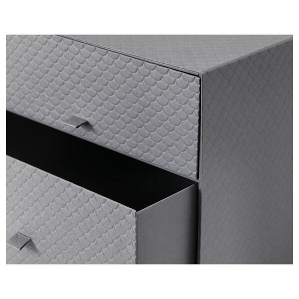 PALLRA Minicassettiera a 3 cassetti, grigio scuro, 31x26x31 cm