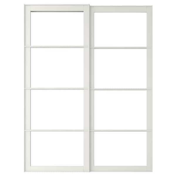 PAX 2 telai per ante scorrevoli, bianco, 150x236 cm