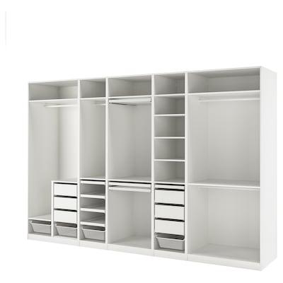 PAX Combinazione di guardaroba, bianco, 375x58x236 cm