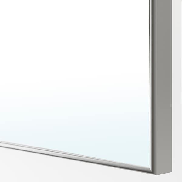 PAX / GRIMO/ÅHEIM Guardaroba angolare, bianco/vetro a specchio, 210/160x236 cm