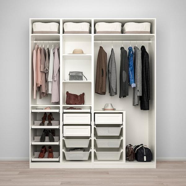 Ikea Guardaroba Pax Komplement Sistema Componibile.Pax Grimo Vikedal Combinazione Di Guardaroba Bianco Vetro A