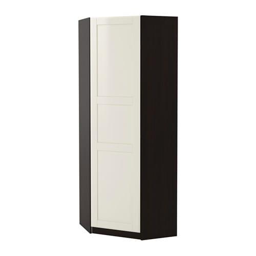 Pax guardaroba angolare tyssedal bianco marrone nero for Ikea angolare pax