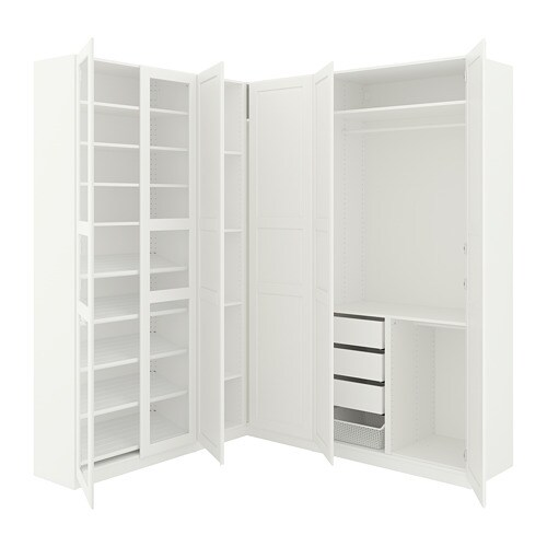 Guardaroba Angolare Ikea Pax.Pax Guardaroba Angolare Bianco Tyssedal Tyssedal Vetro