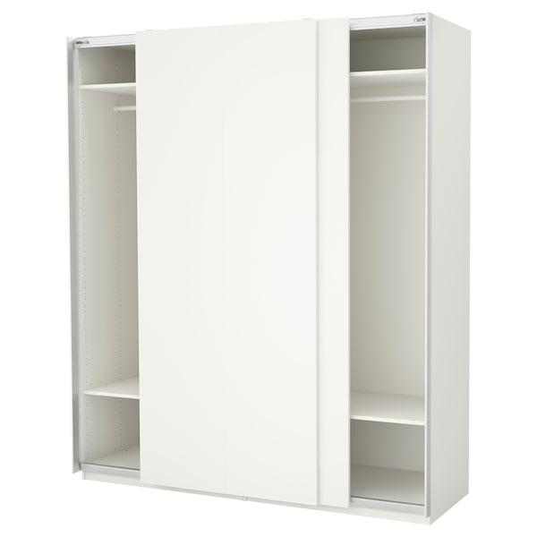 PAX Guardaroba, bianco/Hasvik bianco, 200x66x236 cm