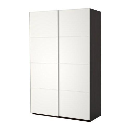 Ikea Guardaroba Con Ante Scorrevoli.Pax Guardaroba Con Ante Scorrevoli Marrone Nero Mehamn Bianco