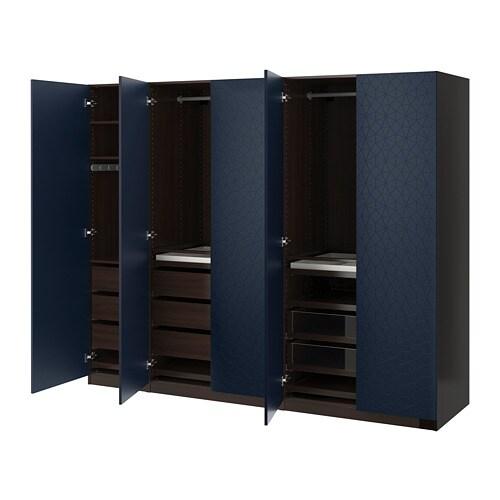 Ikea Crea Il Tuo Guardaroba.Pax Guardaroba Marrone Nero Hamnas Blu Nero