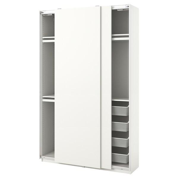 PAX / HASVIK Combinazione di guardaroba, bianco, 150x44x236 cm