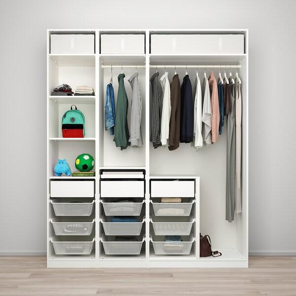 PAX / REINSVOLL Combinazione di guardaroba, grigio-beige, 200x66x236 cm