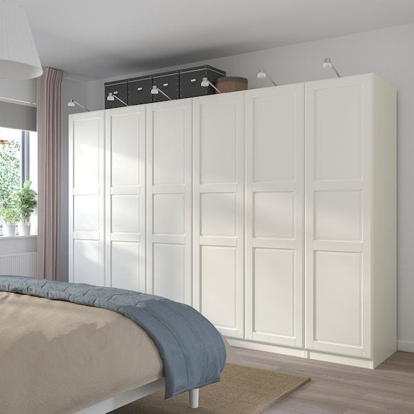 PAX / TYSSEDAL Combinazione di guardaroba, bianco/bianco, 300x60x201 cm