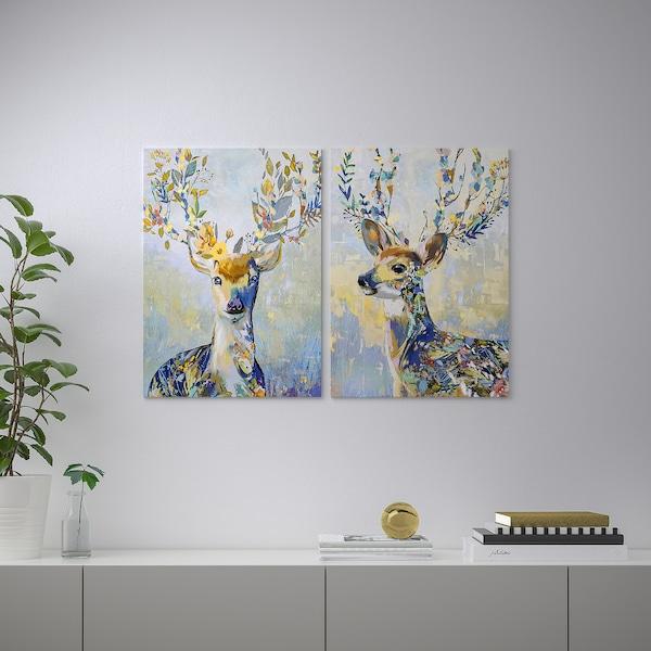 PJÄTTERYD Canvas, renna colorata, 50x70 cm