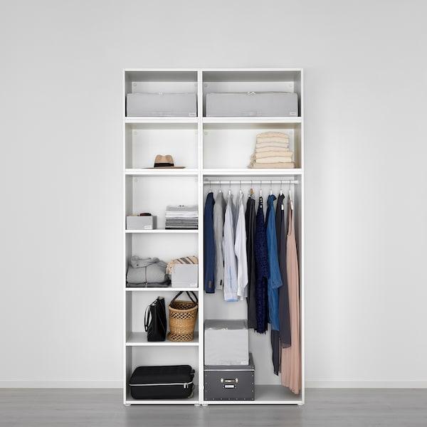 PLATSA Guardaroba, bianco/Fonnes bianco, 140x57x261 cm