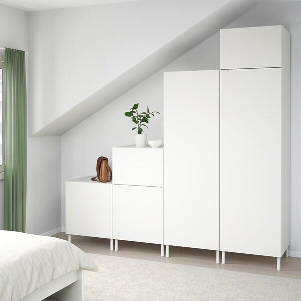 PLATSA Guardaroba, bianco/Fonnes bianco, 240x57x231 cm