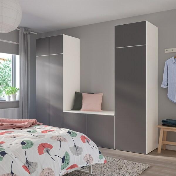 Armadio Con Tv Ikea.Platsa Guardaroba Con 8 Ante Bianco Skatval Grigio Scuro Ikea Svizzera