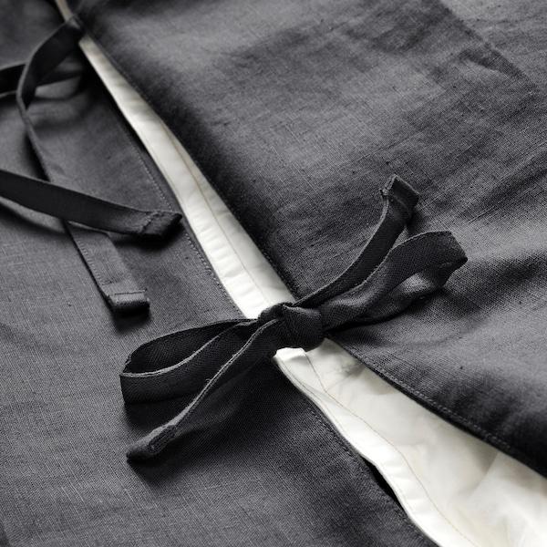 PUDERVIVA Copripiumino e federa, grigio scuro, 150x200/50x60 cm