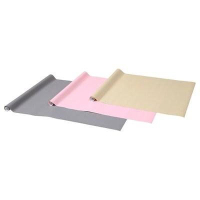 PURKEN Carta regalo, colori vari, 3.0x0.7 m