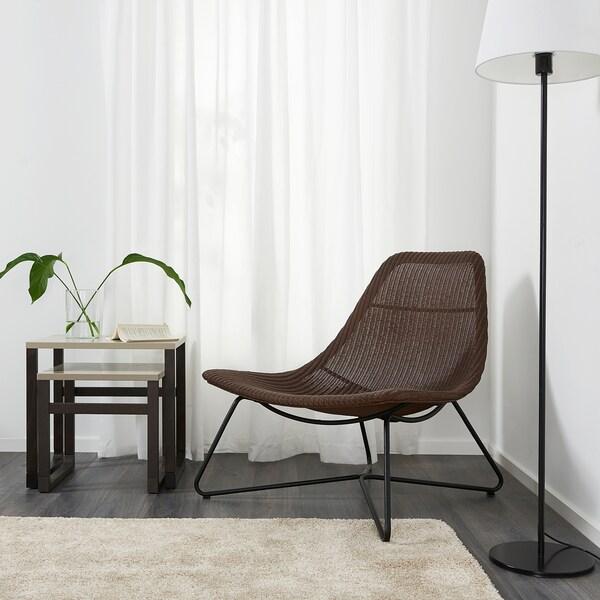 RÅDVIKEN Poltrona, marrone scuro/nero
