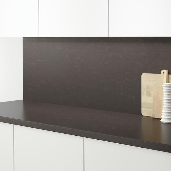 RÅHULT Rivestimento da parete su misura, grigio scuro opaco/effetto marmo quarzo, 1 m²x1.2 cm