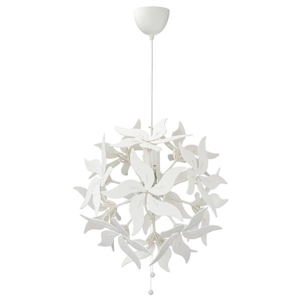 RAMSELE Lampada a sospensione, fiore/bianco, 43 cm