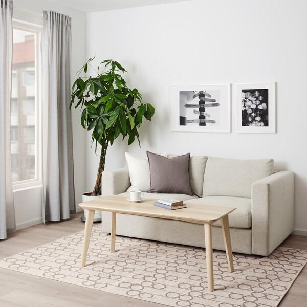 RINDSHOLM Tappeto, tessitura piatta, beige, 160x230 cm