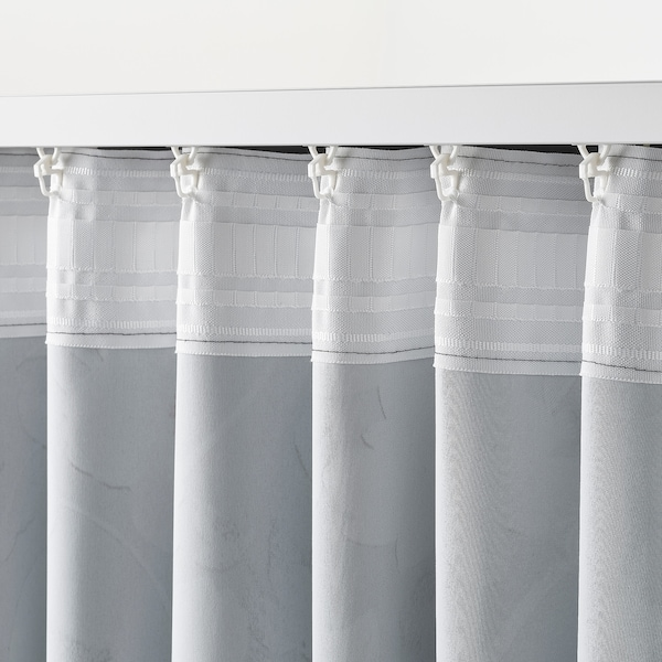 Rosenmott Tenda Oscurante 2 Teli Nero Motivo Floreale Ikea