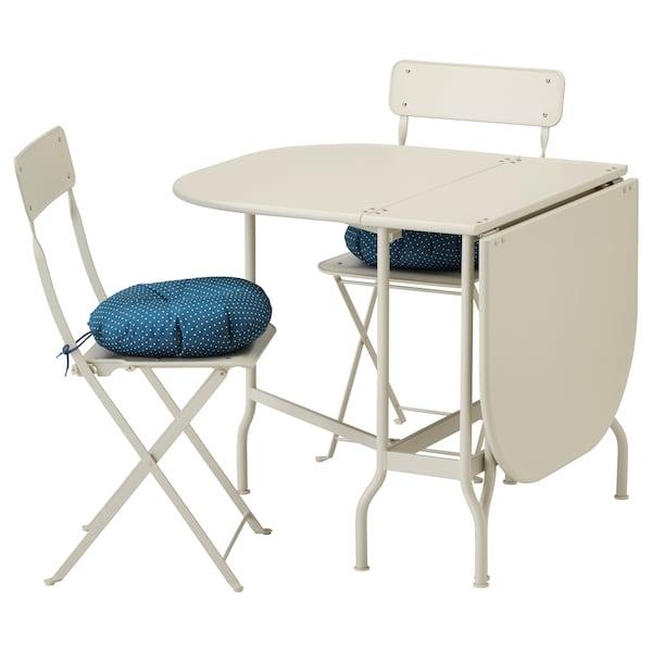 Ikea Sedie Pieghevoli Giardino.Saltholmen Tavolo 2 Sedie Pieghevoli Giardino Beige Bianco