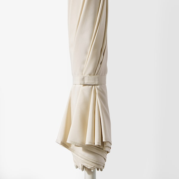 SAMSÖ Ombrellone con base, beige/Grytö grigio scuro, 200 cm