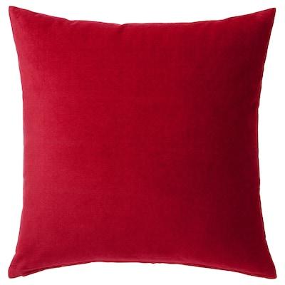 SANELA fodera per cuscino rosso 50 cm 50 cm