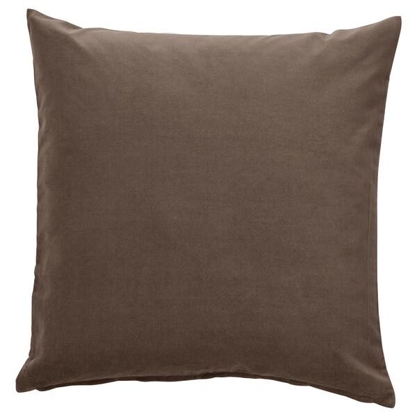 SANELA Fodera per cuscino, grigio/marrone, 50x50 cm