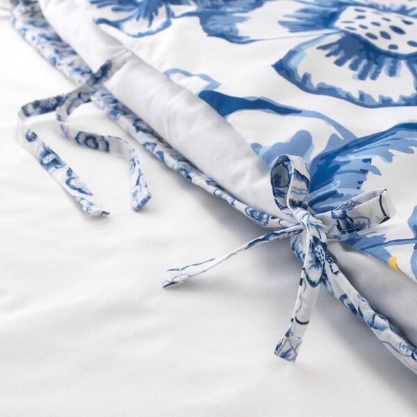 SÅNGLÄRKA Copripiumino e federa, farfalla/bianco blu, 150x200/50x60 cm