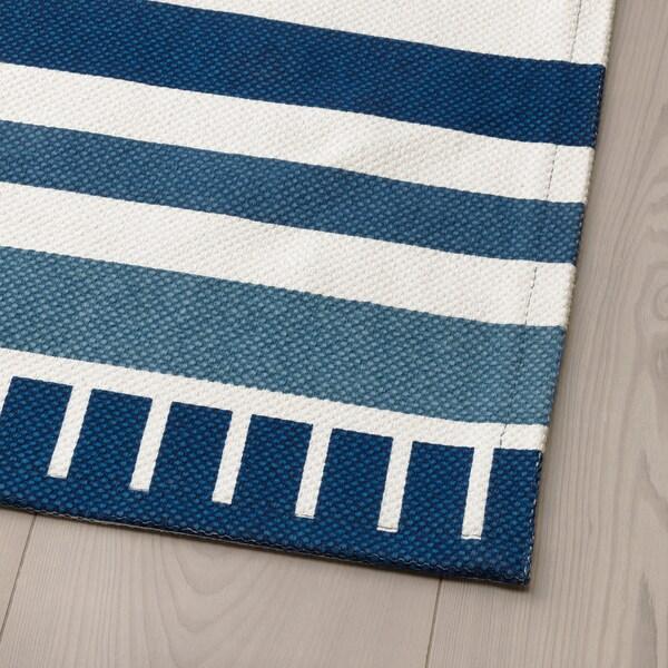 SÅNGLÄRKA Tappeto, tessitura piatta, blu scuro, 80x160 cm