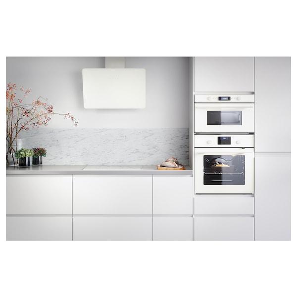SIBBARP Rivestimento da parete su misura, bianco effetto marmo/laminato, 1 m²x1.3 cm