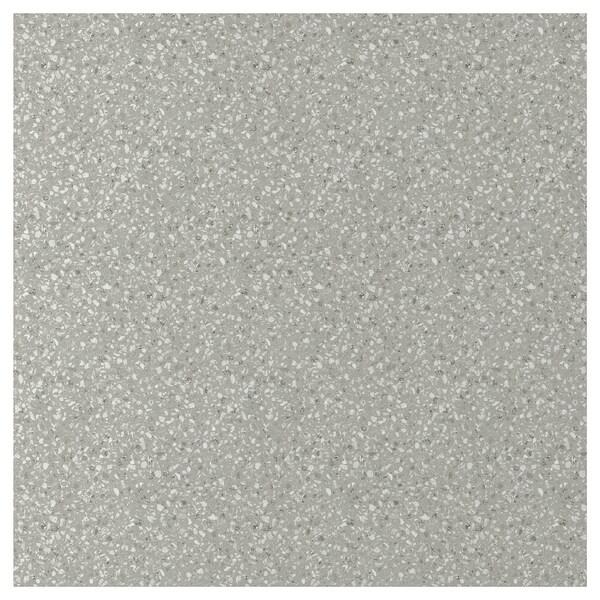 SIBBARP Rivestimento da parete su misura, grigio chiaro effetto minerale/laminato, 1 m²x1.3 cm
