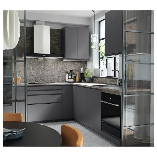 SIBBARP Rivestimento da parete su misura, grigio scuro effetto marmo/laminato, 1 m²x1.3 cm