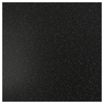 SIBBARP Rivestimento da parete su misura, nero effetto minerale/laminato, 1 m²x1.3 cm