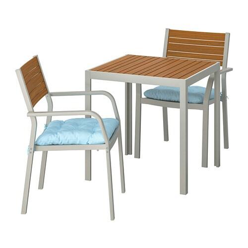 Sedie Per Giardino Ikea.Sjalland Tavolo 2 Sedie Braccioli Giardino Sjalland Marrone