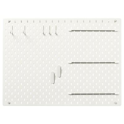 SKÅDIS Combinazione pannello portaoggetti, bianco, 76x56 cm