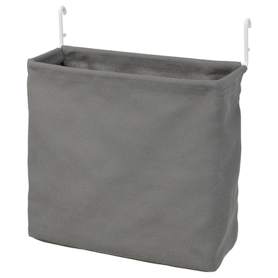 SKÅDIS Contenitore, bianco/grigio