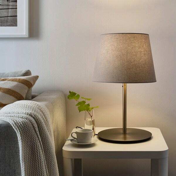 SKAFTET Base per lampada da tavolo, nichelato, 38 cm