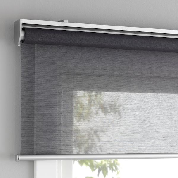 SKOGSKLÖVER Tenda a rullo, grigio, 100x195 cm