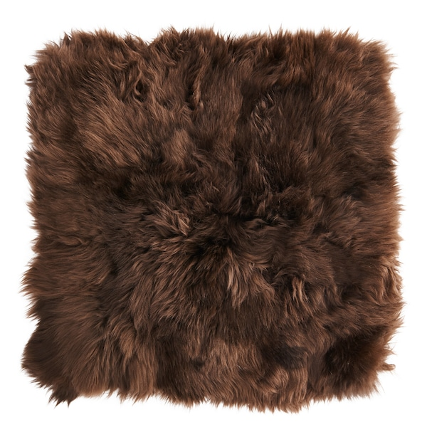 SKOLD Fodera per cuscino, pelle di pecora/marrone, 50x50 cm
