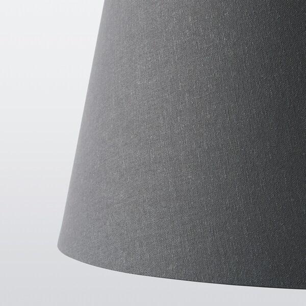SKOTTORP Paralume, grigio, 33 cm