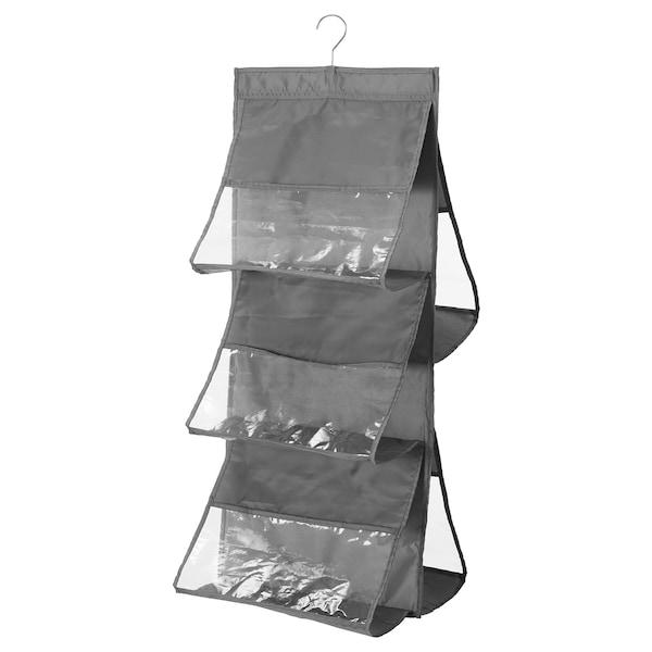 SKUBB Portaborse da appendere, grigio scuro, 39x93 cm