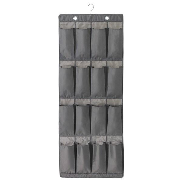 SKUBB Portascarpe da appendere, 16 tasche, grigio scuro