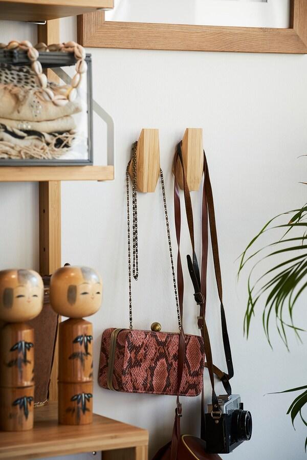 SKUGGIS Gancio, bambù, 5.4x7 cm